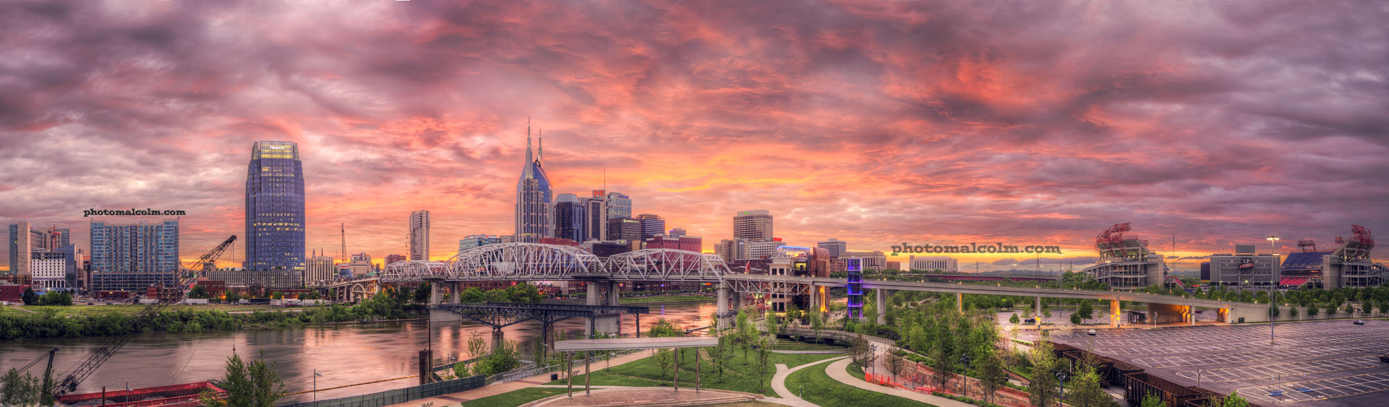 Nashville Sunset Pano