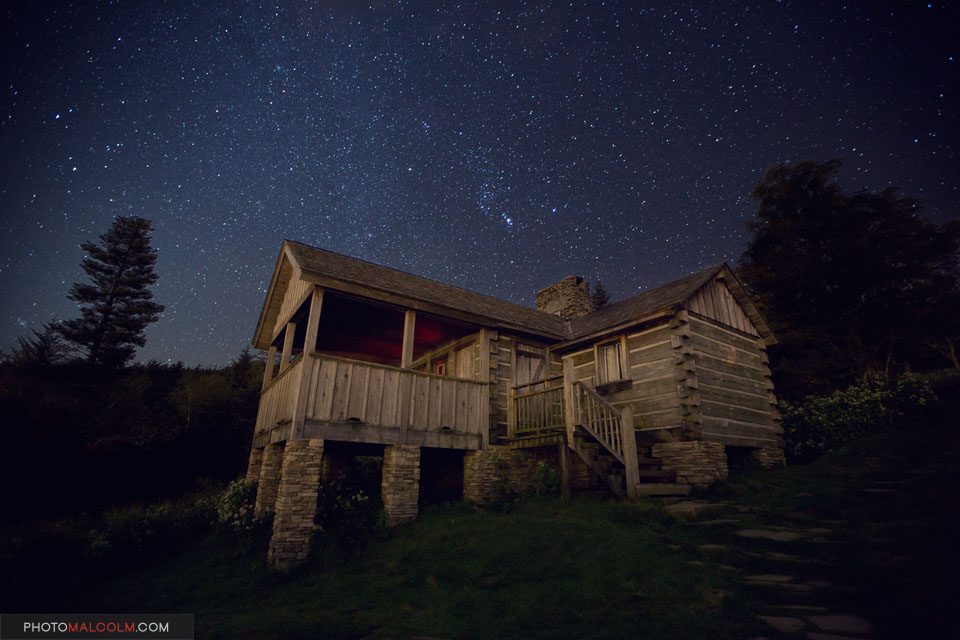 LeConte Cabin at Night